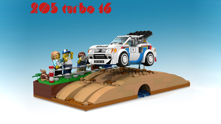 Lego Peugeot 205 T16 Rally Car Proposal Is Already A Winner To Us