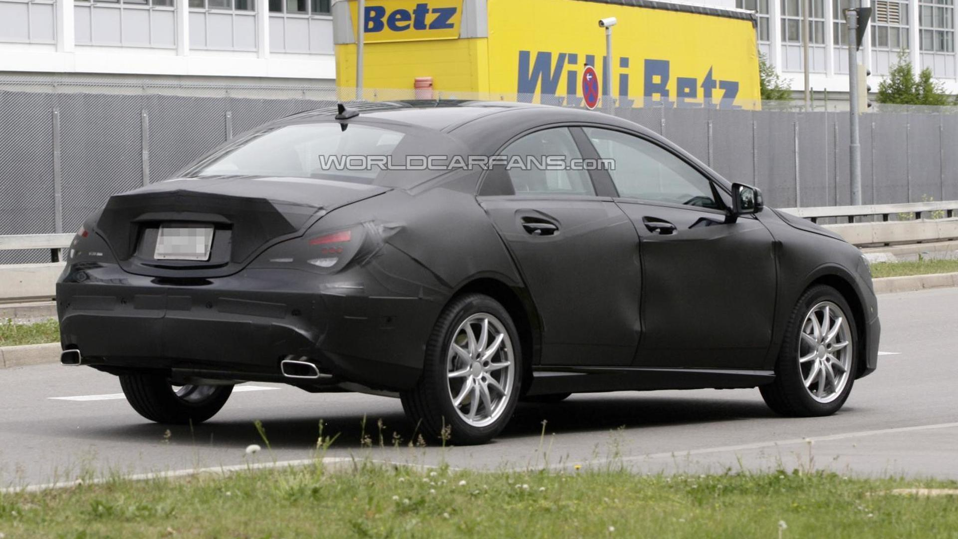 Mercedes CLA-Class testing caught on video