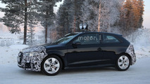 Audi A3 three-door facelift spy photo