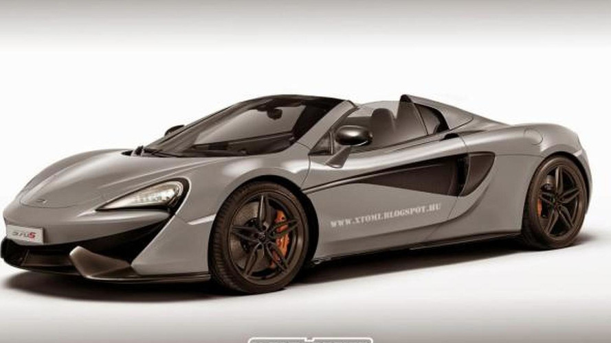 McLaren 570S Spider speculatively rendered prior to probable 2017 launch