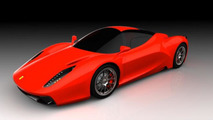 Ferrari F70 supercar speculatively rendered