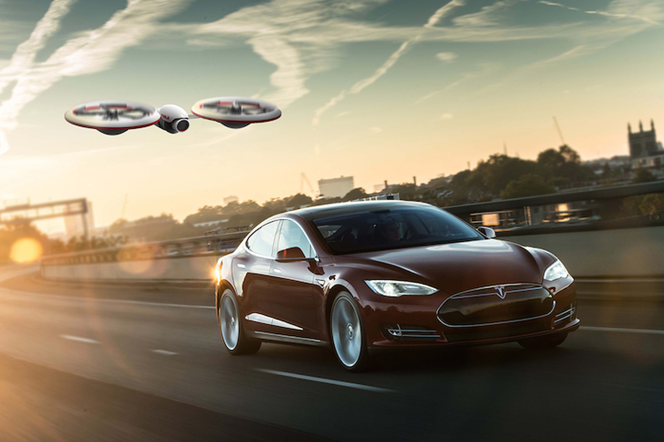 Imagine A World Where Tesla Drones Rule the Skies