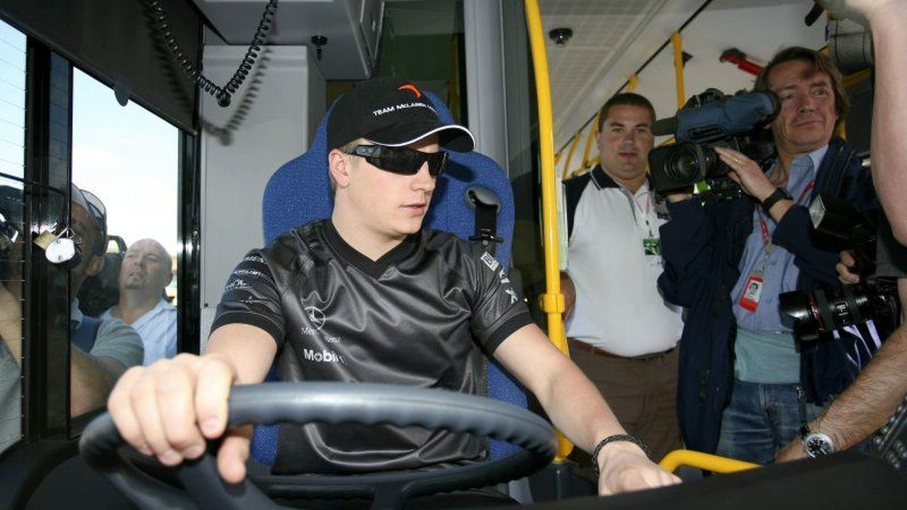 Kimi test drives zero-emission fuel cell bus