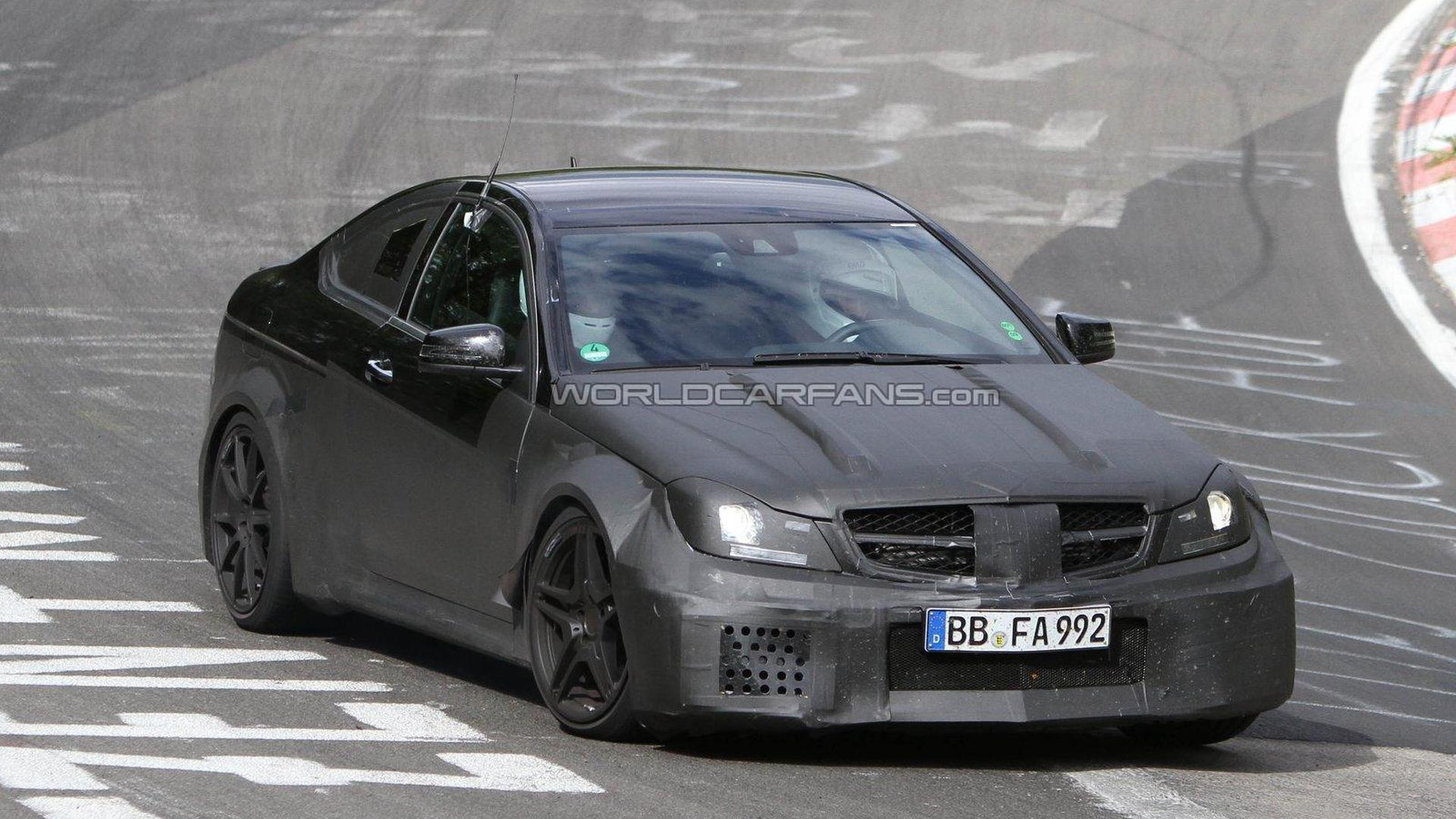 2012 mercedes benz c63 amg black series coupe spied on the ring. Black Bedroom Furniture Sets. Home Design Ideas