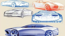 Early Sketches of Lamborghini Estoque four-door Concept Leaked?