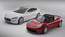 Tesla Model S with Tesla Roadster