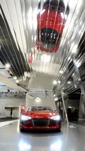 Red Audi e-tron Spyder featured in Design Miami art installation