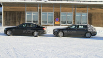 2011 BMW 5 Series Touring and Sedan Spotted Side by Side