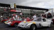 Ferrari 250 GT parade headed for the Le Mans Classic