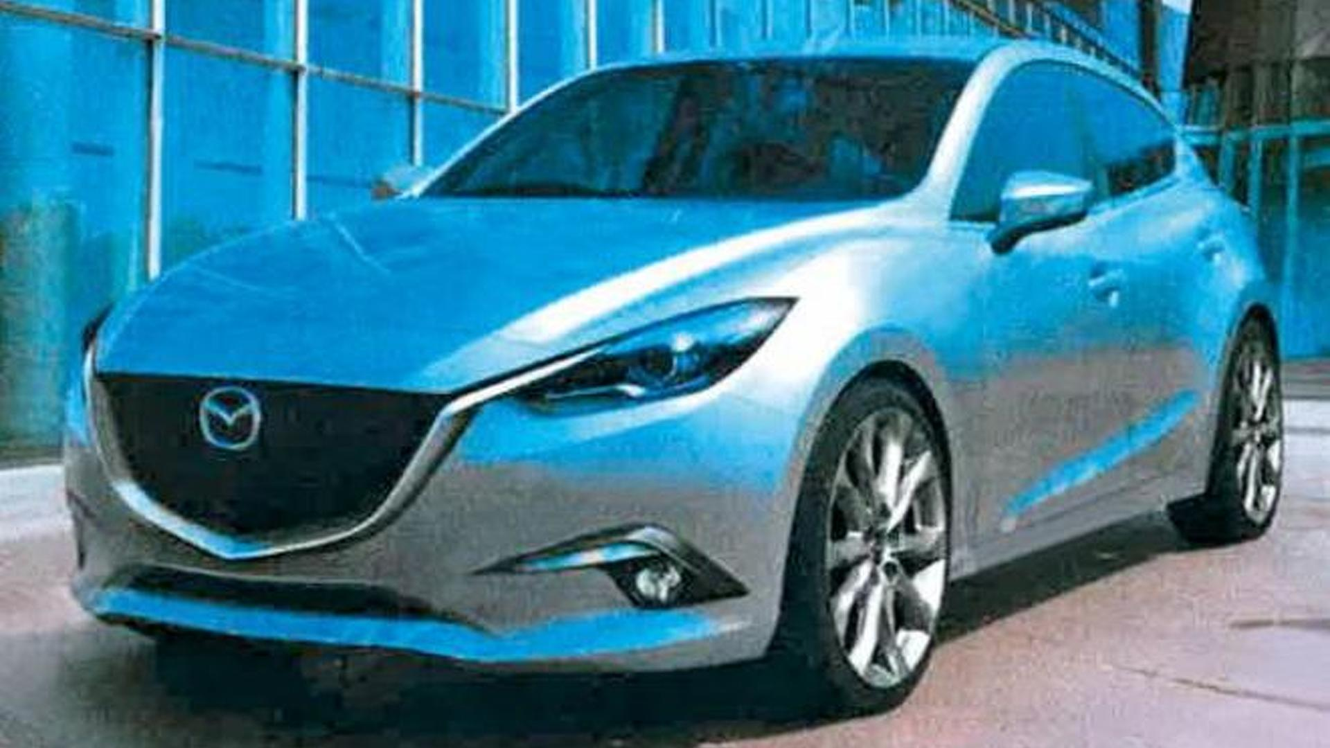 2014 Mazda3 first images leaked