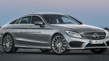 Mercedes-Benz CLC four-door coupe rendered based on C-Class Coupe