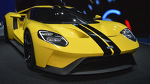 Ford GT concept dressed in yellow and GT racecar hit LA