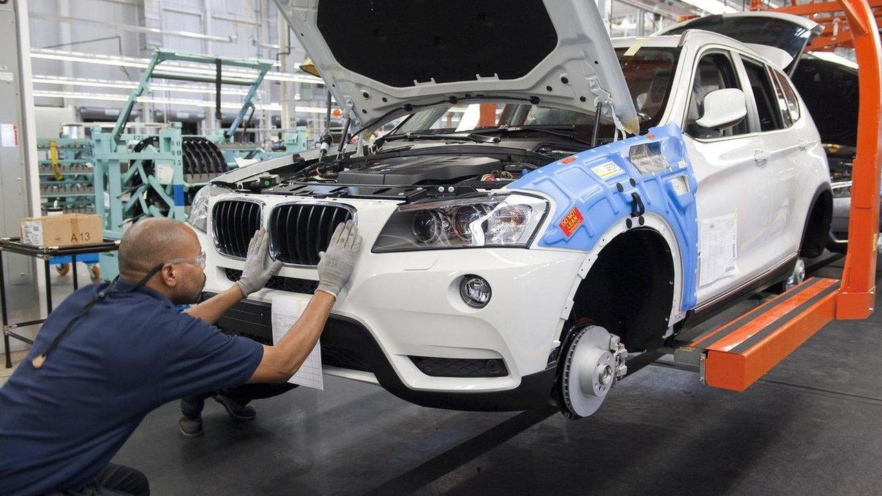 BMW plant assembly line 30.08.2011