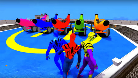 Spiderman uses banana cars to teach ABCs – we love you, Internet