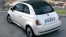 Fiat 500 Cabrio Artists Rendering