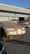 Bugatti Chiron prototypes spied at LAX before leaving United States