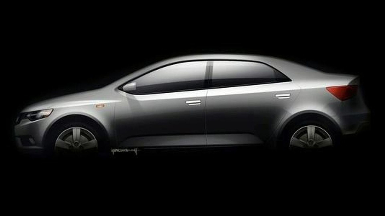 Kia Forte Spectra Teaser illustration