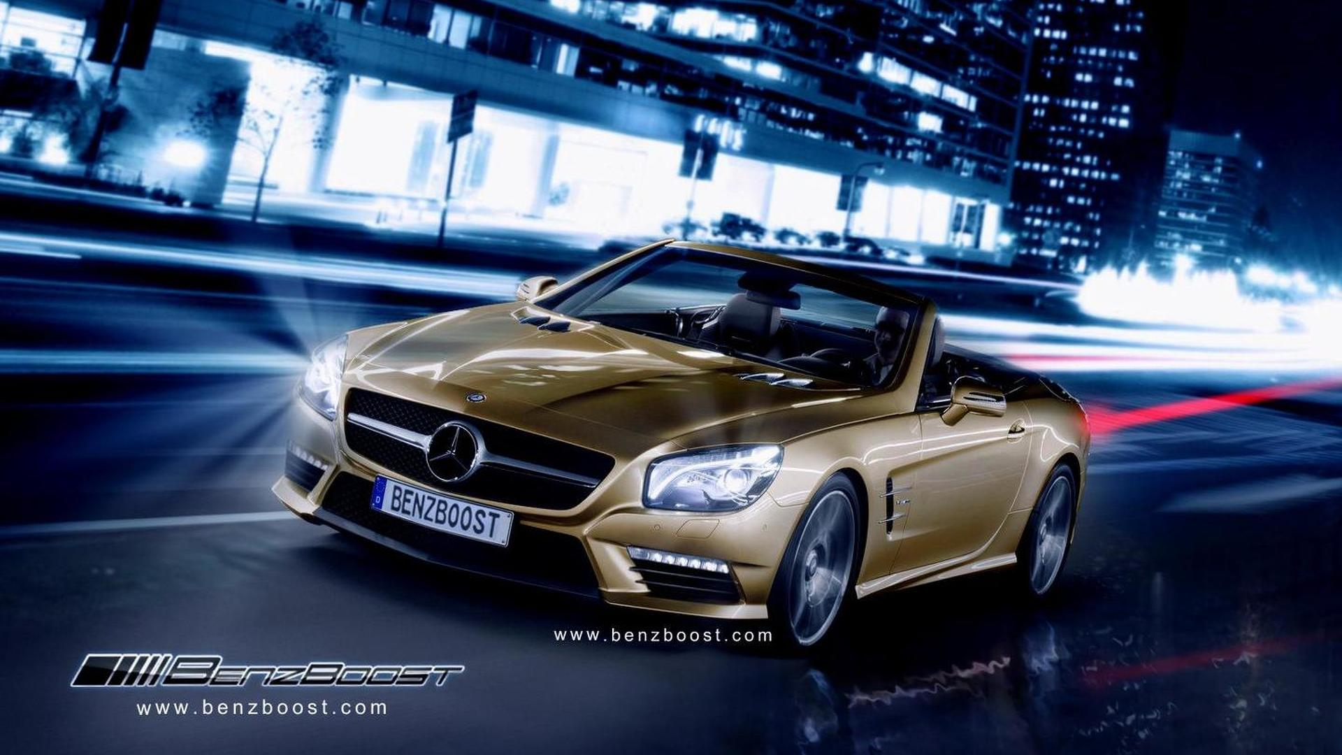 2013 Mercedes SL63 AMG rendered