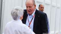 Bernie Ecclestone, with Former Spanish King Juan Carlos