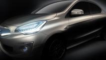 Mitsubishi G4 Compact Sedan Concept teased for Bangkok Motor Show