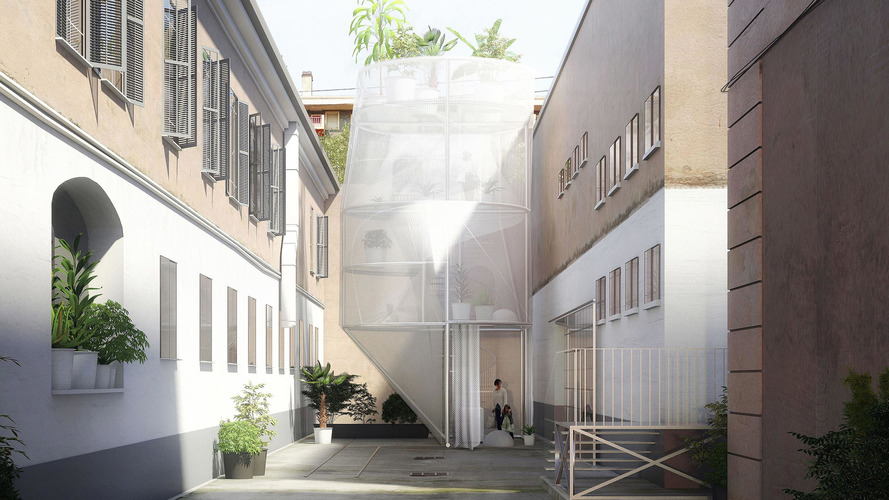 Translucent walls for Mini's tiny house are exhibitionist's dream