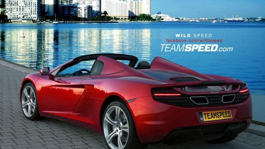McLaren MP4-12C Spider rendered