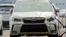 2014 Subaru Forester photographed at the factory
