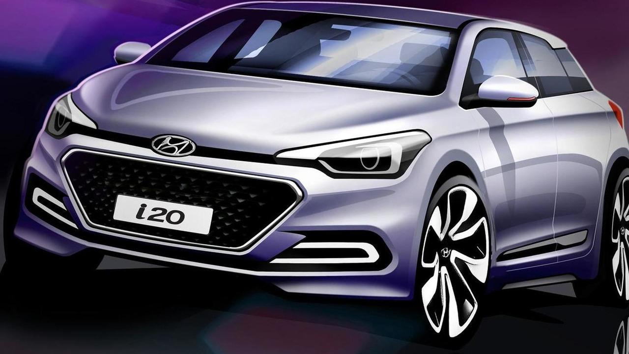 2015 Hyundai i20 teaser design sketch