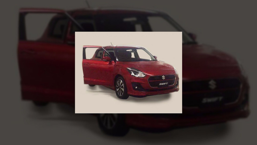 2017 Suzuki Swift leaked showing front end