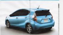 Toyota Prius c JDM brochure leaked