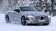 2018 Mercedes CLS stubbornly keeps camo in new spy shots