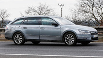Skoda Superb Combi spied wearing minimal disguise