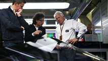 Charlie Whiting, FIA Delegate inspects the Red Bull Racing RB12 aeroscreen