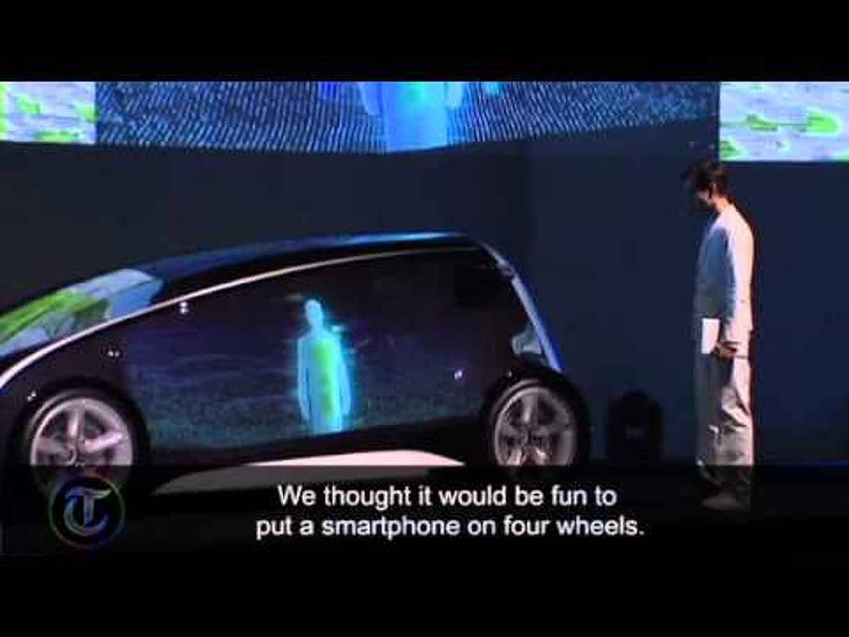 Toyota unveil smartphone car for Tokyo Motor Show