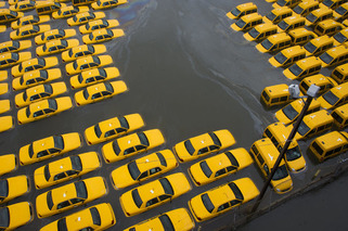 Hurricane Sandy Leaves Tons of NYC Vehicles Submerged
