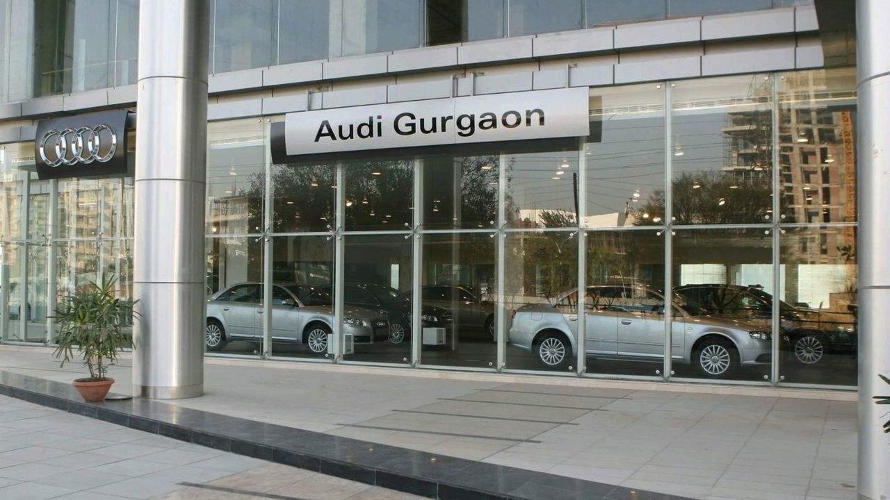 Audi dealership in Gurgaon, India