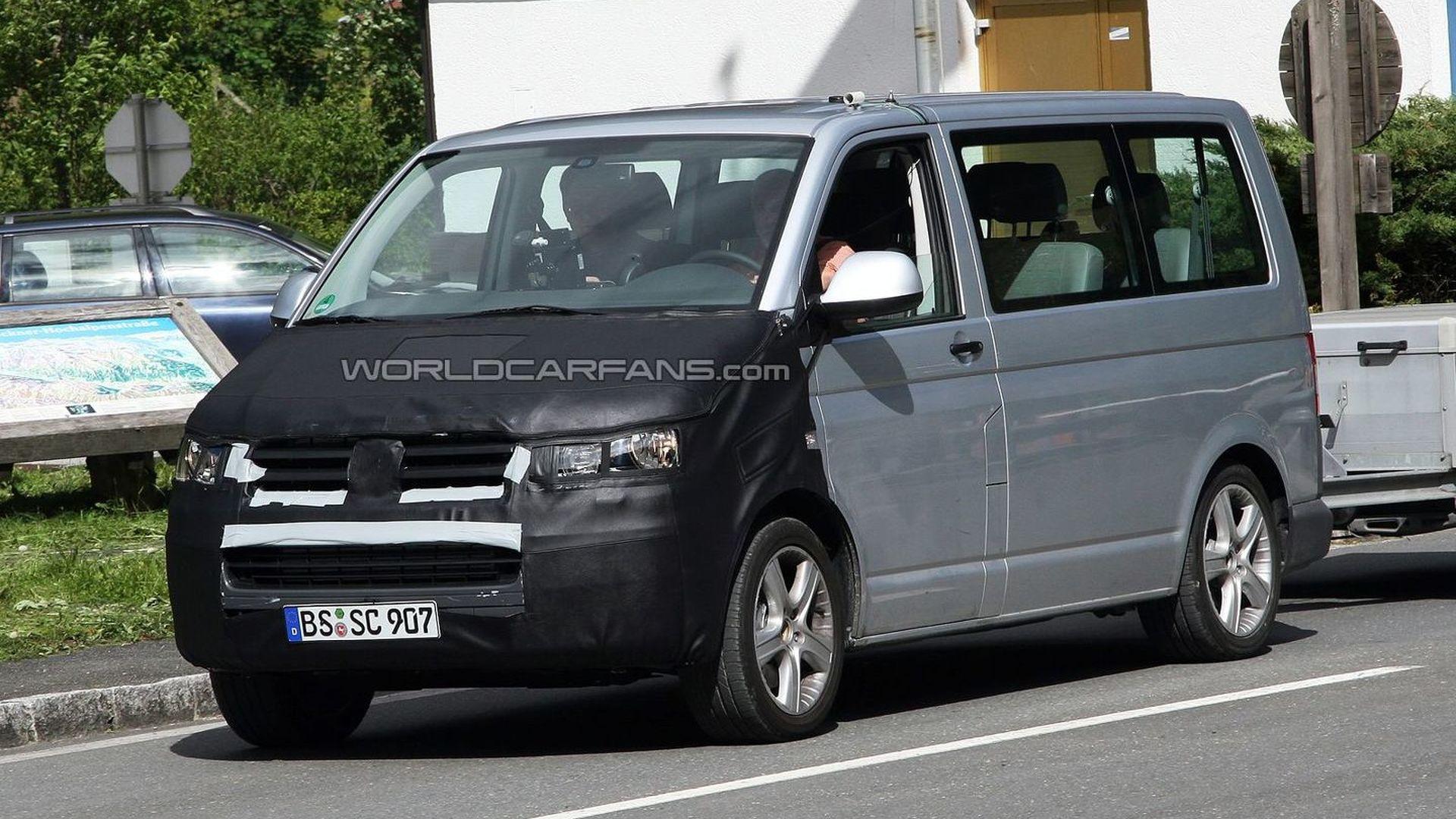 Volkswagen T5 Facelift Caught Testing