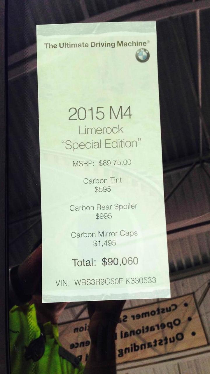 BMW M4 Limerock special edition