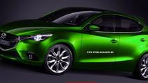 Next-gen Mazda2 rendered based on Hazumi concept