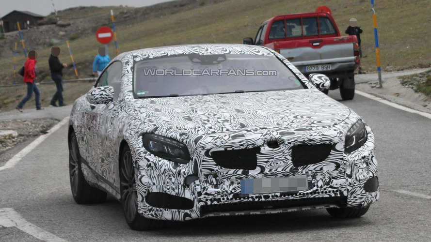 2014 Mercedes-Benz S63 AMG Coupe spied for the first time
