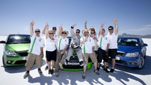 Skoda Octavia vRS hits the salt flats at Bonneville and cracks 200 mph