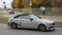 2016 Mercedes-Benz C-Class Cabriolet spy photos show the soft top