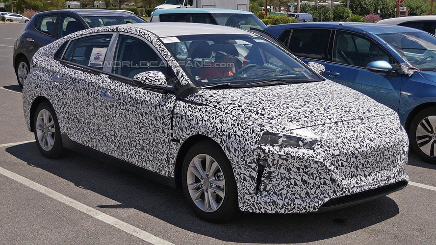 Hyundai dedicated hybrid spied wearing less disguise