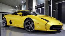 Lamborghini 5-95 Zagato with pearl yellow paint heading to customer