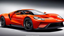 Ford GT render without roof