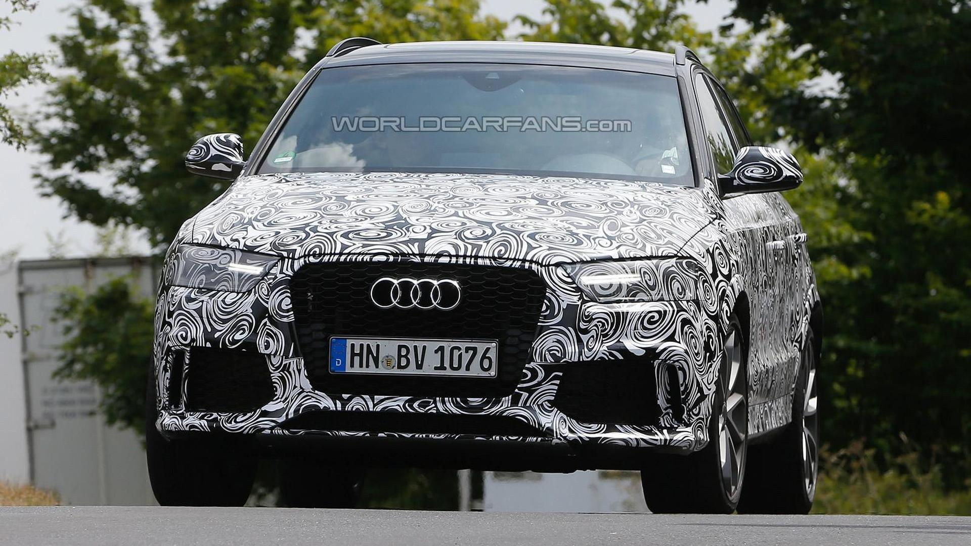 Audi RS Q3 facelift spied once again