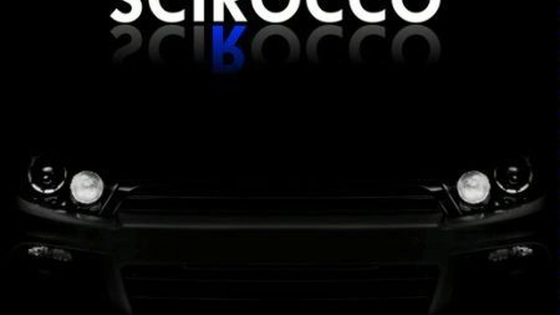 VW Scirocco R Series Teaser Real or Fake?
