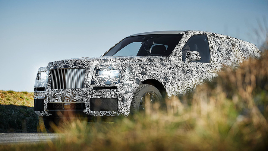 Rolls-Royce Cullinan SUV full body prototype teased