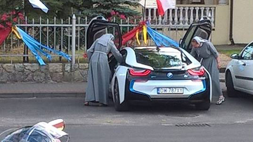 BMW i8 is God approved as two Polish nuns are seen cruising