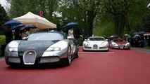 100 years Bugatti, Bugatti Veyron Centenaire trio, Concorso d'Eléganza Villa d'Este 2009